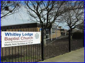 Whitley Lodge Baptist Church sign
